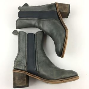 Gee Wawa Anthropologie Andrea Leather Boots (Gray)